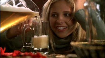 Buffy want beer.