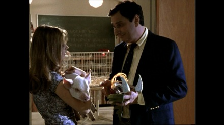 Buffy with Principal Flutie in The Pack