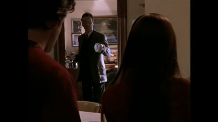 Giles makes tea in the library - Nightmares - Buffy